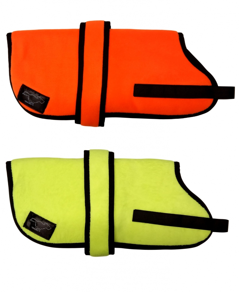 High Visibility Personalised Fleece Dog Coats - All Colours