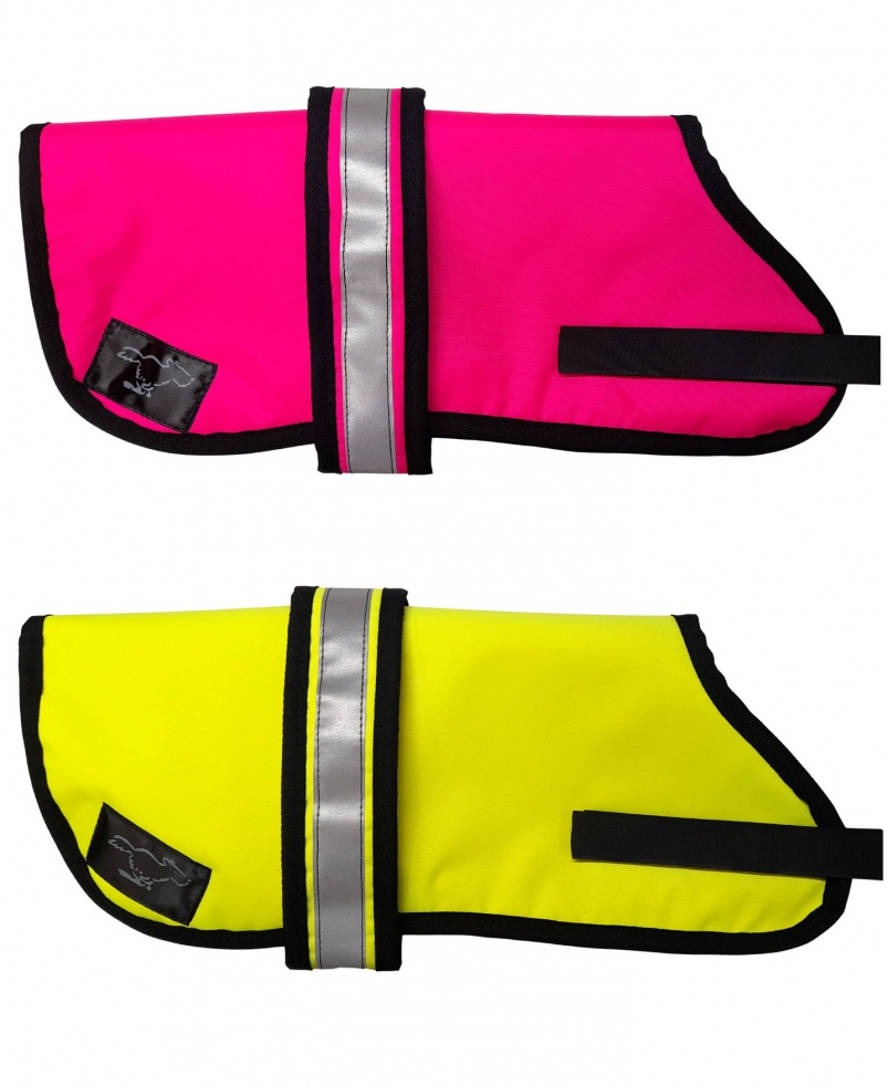 Personalised Waterproof Dog Coats | High Visibility |Sherpa Fleece Lining