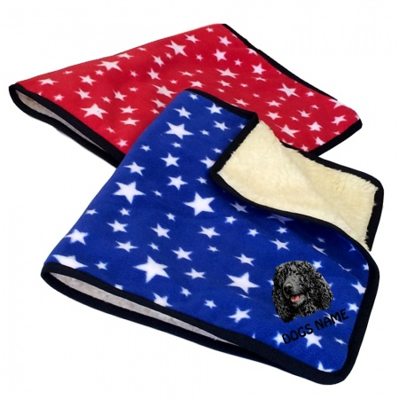 Irish Water Spaniel Personalised Luxury Fleece Dog Blankets Bright Stars Design