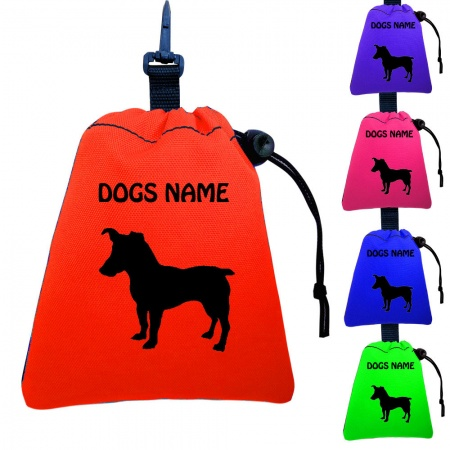 Jack Russell Personalised Training Treat Bags - Clips To Dog Lead