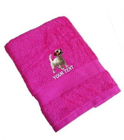 Jack Russell Terrier Personalised Dog Towels Standard Range