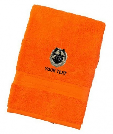 Keeshond Personalised Dog Towels Luxury Range