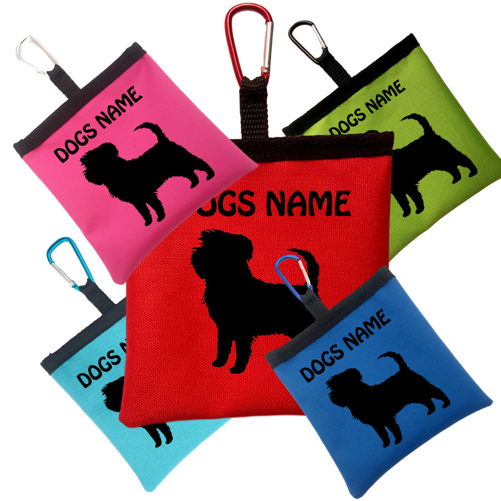 Affenpinscher Personalised Pooh Bag Holder With Carabiner