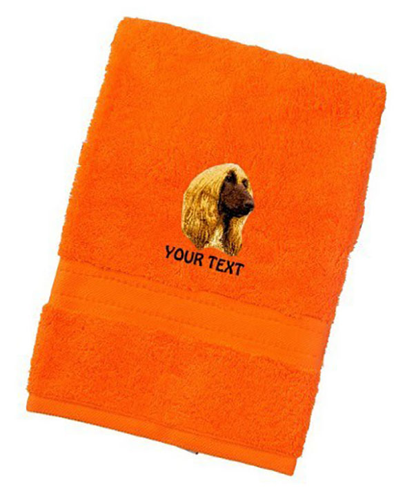 Afghan Hound Personalised Dog Towels Luxury Range - Face Cloth