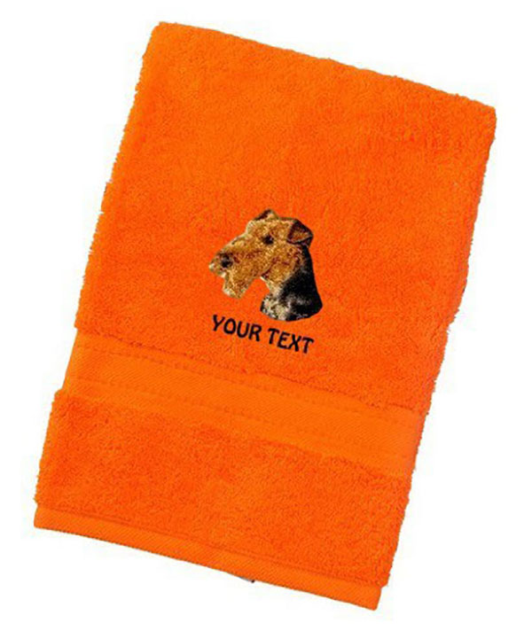 Airedale Terrier Dog Towels Luxury Range - Face Cloth