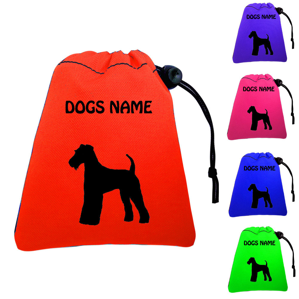 Airedale Terrier Personalised Training Treat Bags - Clips To Waistband