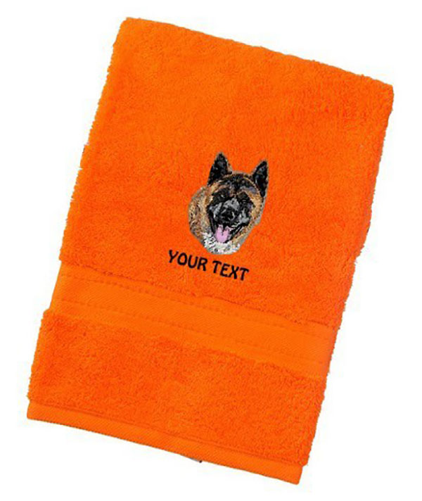 Akita Inu Personalised Dog Towels Luxury Range - Face Cloth
