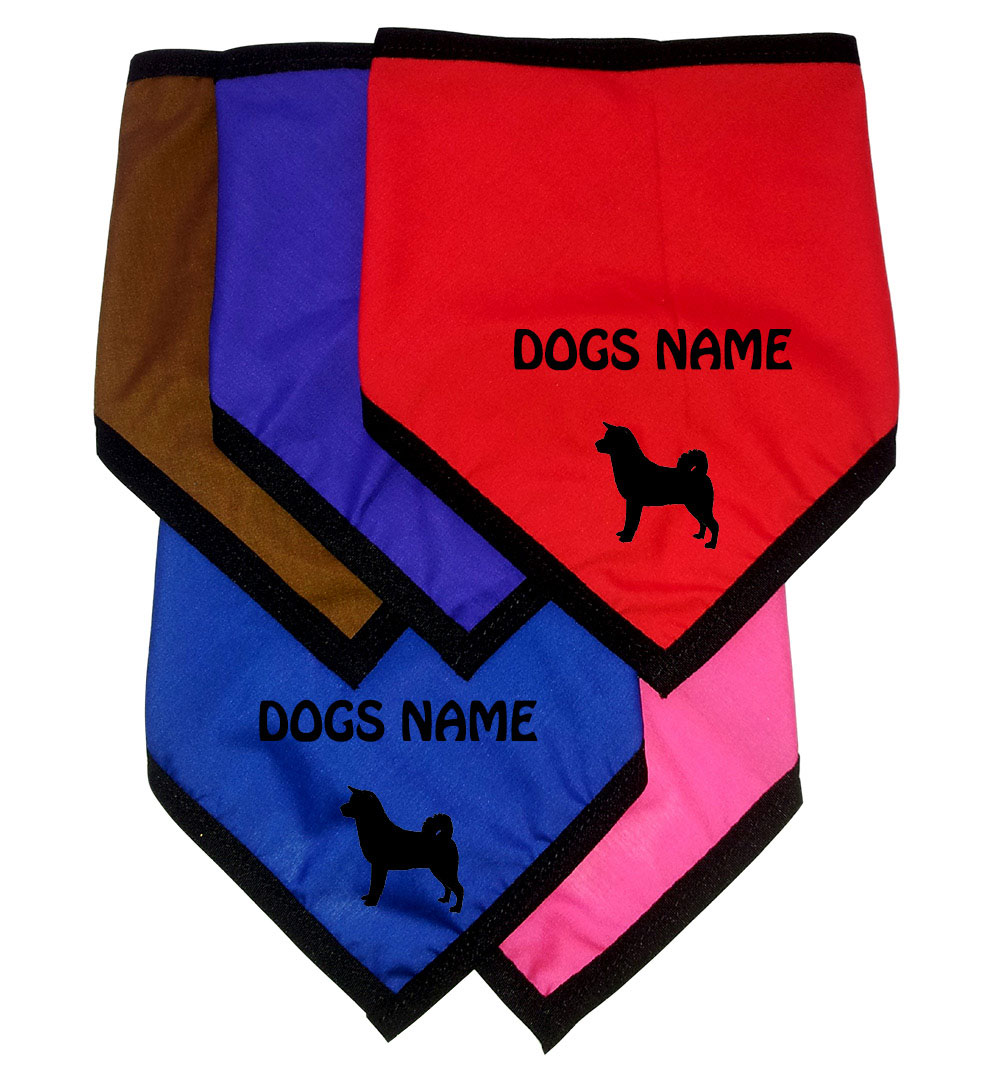 Akita Inu Personalised Dog Bandanas - Tie On
