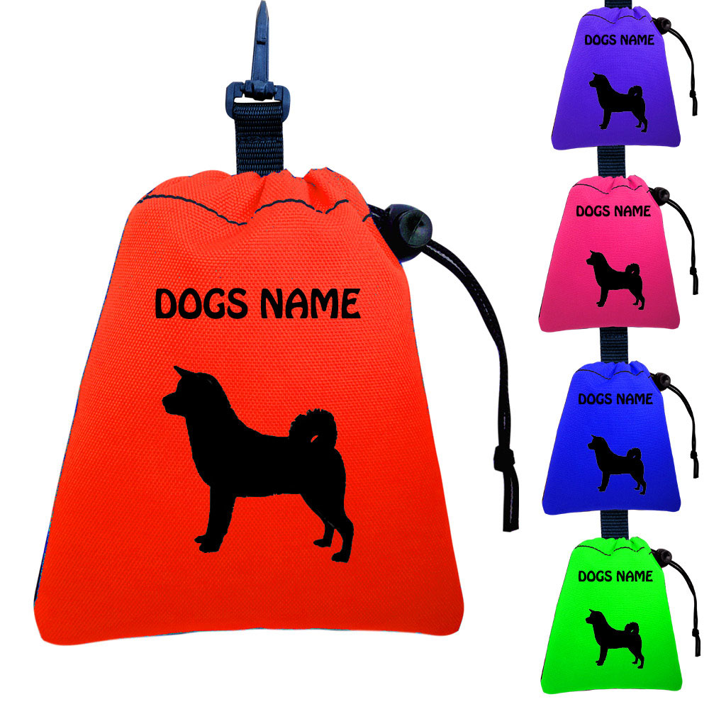 Akita Inu Personalised Training Treat Bags - Clips To Dog Lead