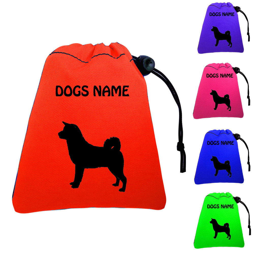 Akita Inu Personalised Dog Training Treat Bags - Pocket Version