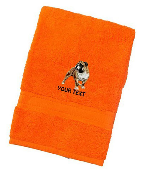 American Bulldog Personalised Dog Towels Luxury Range - Face Cloth