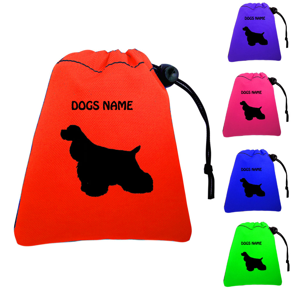 American Cocker Spaniel Personalised Training Treat Bags - Clips To Waistband