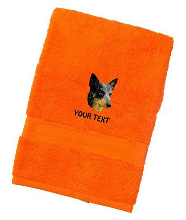 Australian Cattle Dog Personalised Dog Towels Luxury Range - Hand Towel