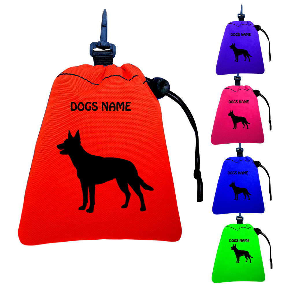Australian Kelpie Personalised Training Treat Bags - Clips To Dog Lead