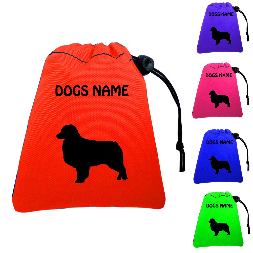 Australian Shepherd Personalised Dog Training Treat Bags - Pocket Version