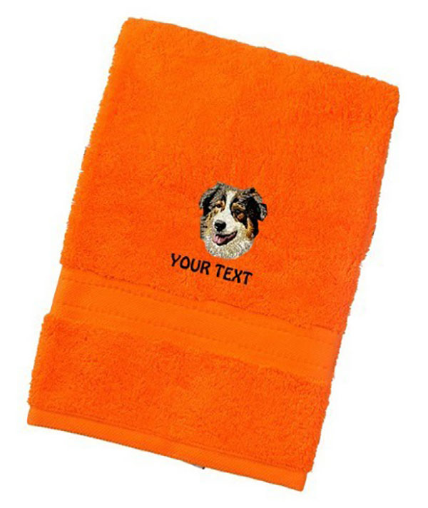 Australian Shepherd Personalised Dog Towels Luxury Range