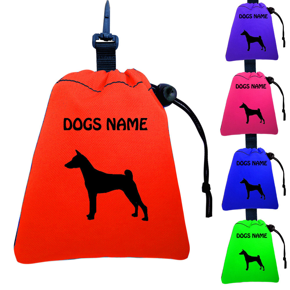Basenji Personalised Training Treat Bags - Clips To Dog Lead