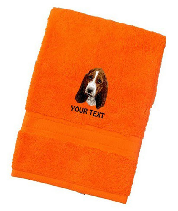 Basset Hound Personalised Dog Towels Luxury Range - Bath Towel