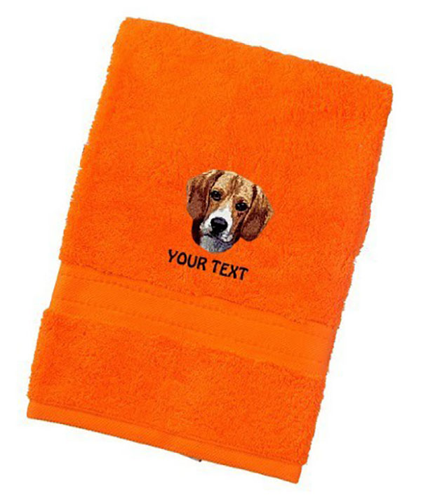 Beagle Personalised Dog Towels Luxury Range