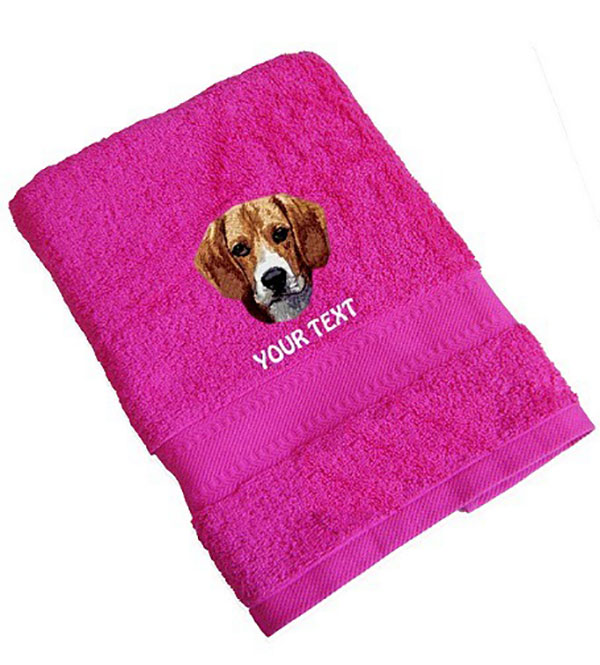 Beagle Personalised Dog Towels Standard Range