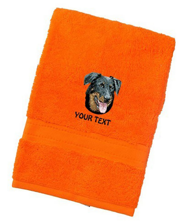 Beauceron Personalised Dog Towels Luxury Range - Bath Towel