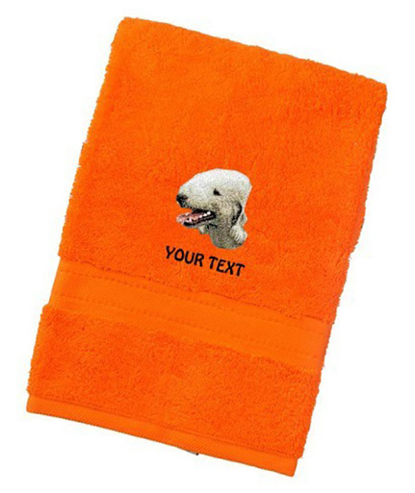 Bedlington Terrier Personalised Dog Towels Luxury Range - Hand Towel