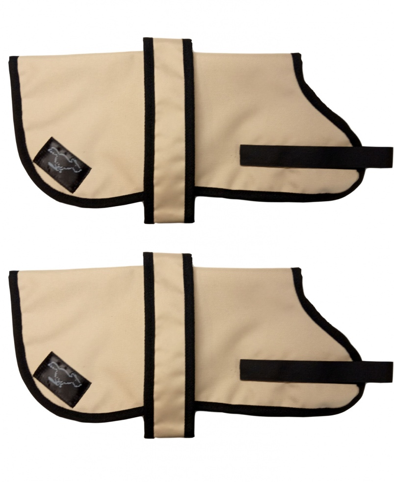 Personalised Waterproof Dog Coats | Beige