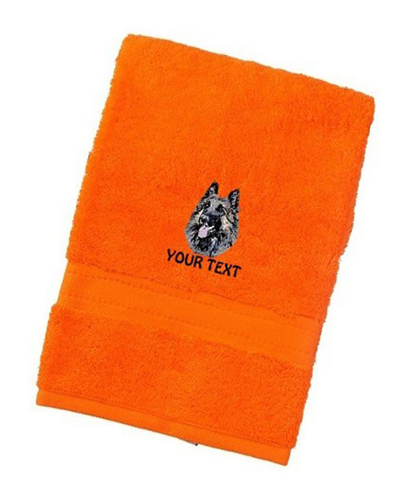 Belgian Shepherd Personalised Dog Towels Luxury Range