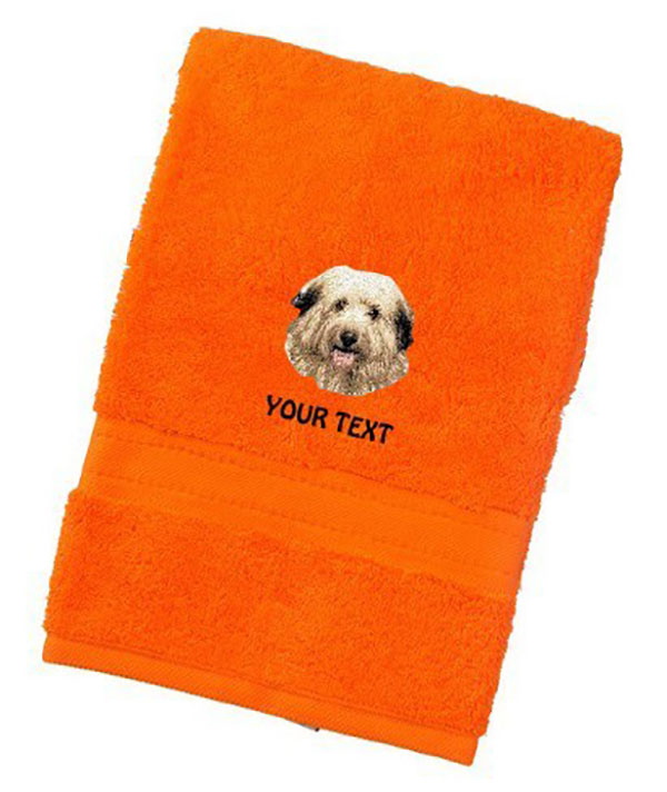 Berger des Pyrenees Personalised Dog Towels Luxury Range - Face Cloth