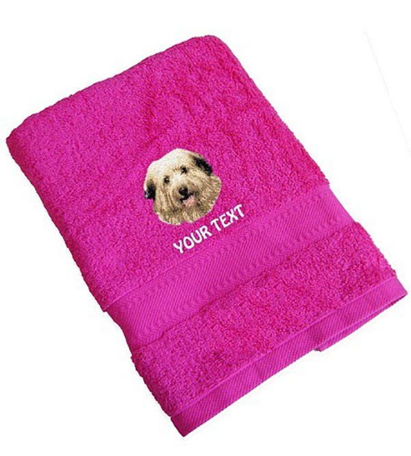 Berger Des Pyrenees Personalised Dog Towels Standard Range - Face Cloth
