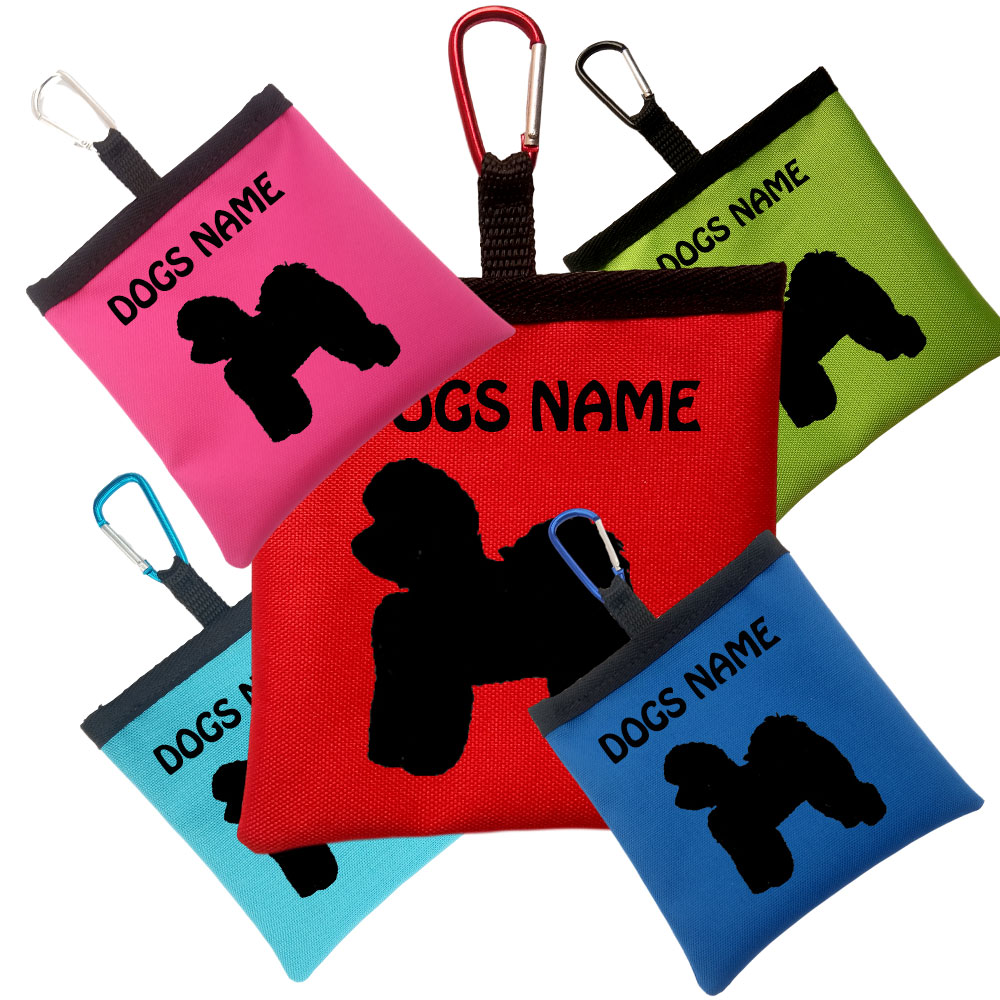 Bichon Frise Personalised Dog Training Treat Bag