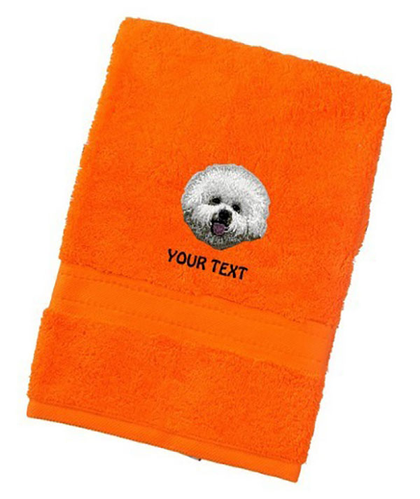 Bichon Frise Personalised Dog Towels Luxury Range