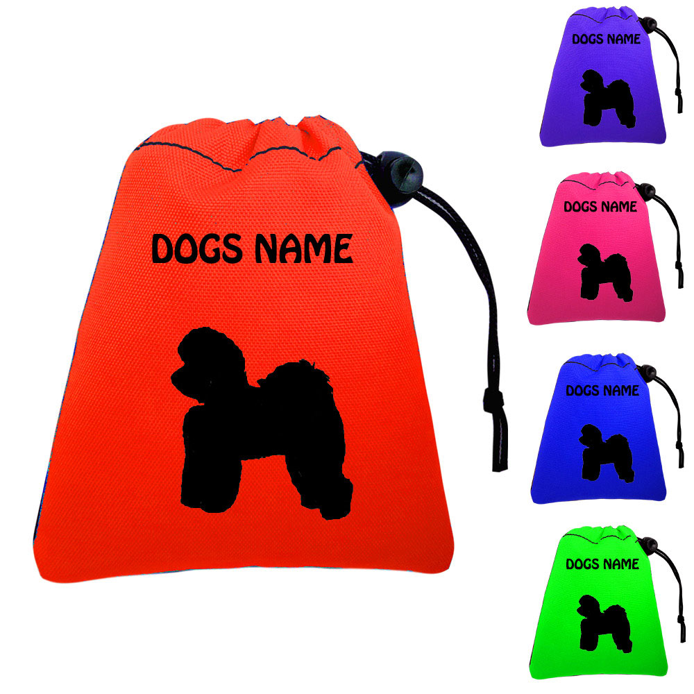 Bichon Frise Personalised Dog Training Treat Bags - Pocket Version