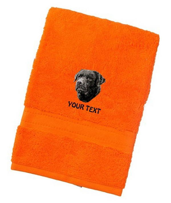 Labrador Retriever (Black) Personalised Dog Towels Luxury Range