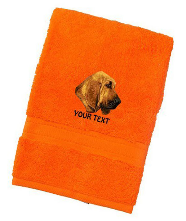 Bloodhound Personalised Dog Towels Luxury Range - Face Cloth