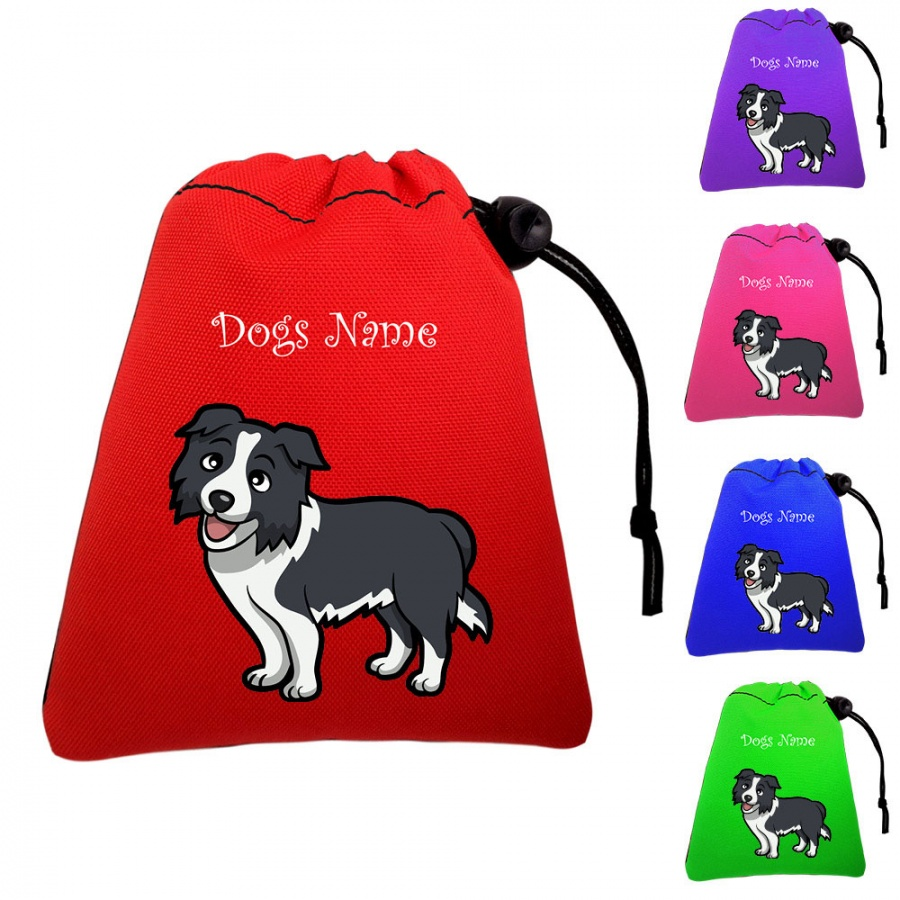 Border Collie Personalised Training Treat Bags (Clips To Your Waistband)