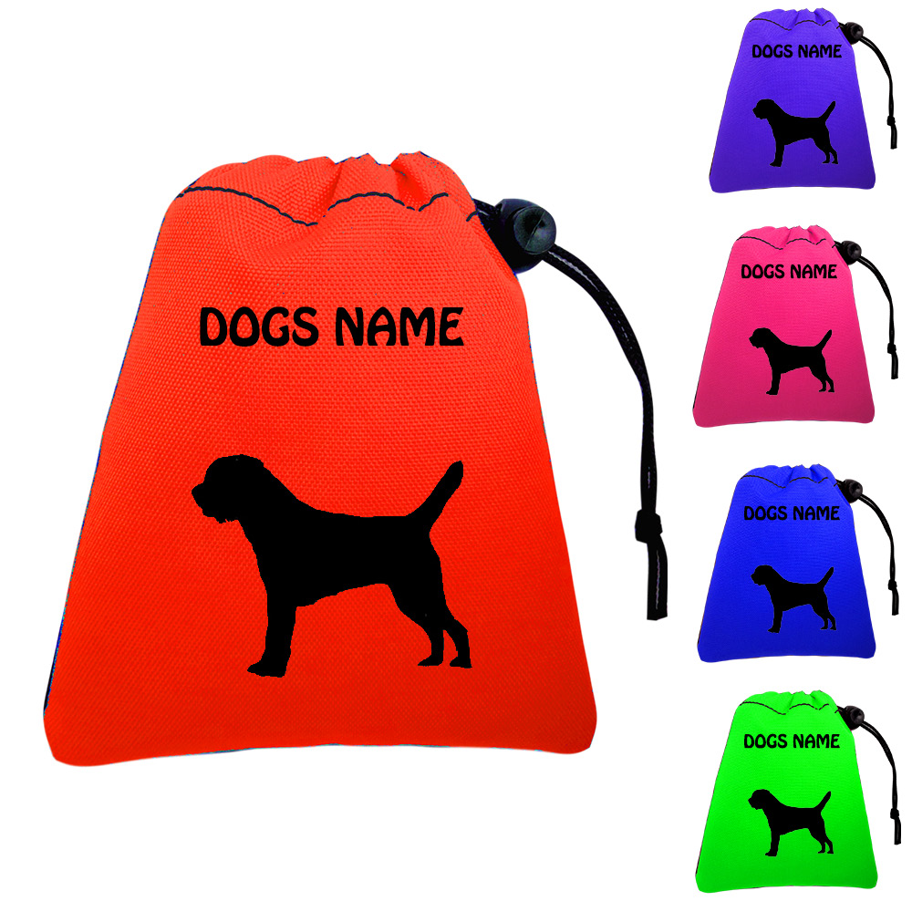 Border Terrier Personalised Dog Training Treat Bags - Pocket Version