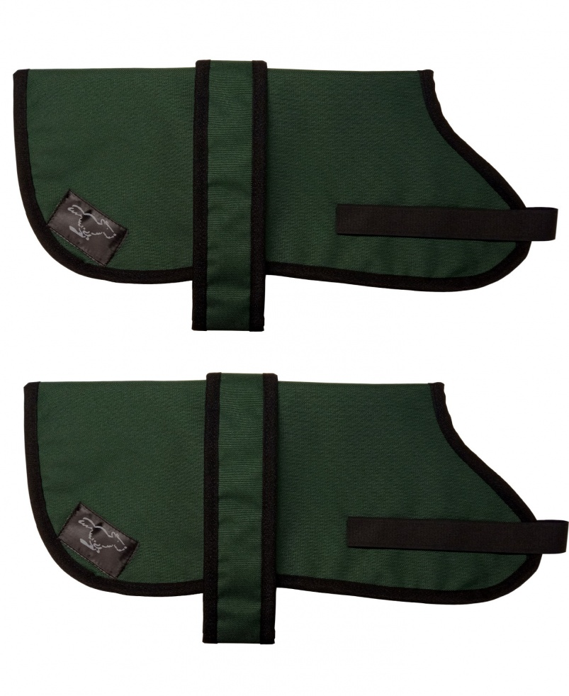 Basenji Personalised Waterproof Dog Coats |Bottle Green