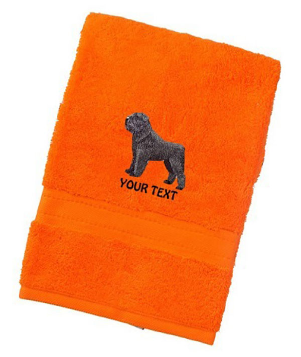 Bouvier des flanders Personalised Dog Towels Luxury Range - Face Cloth