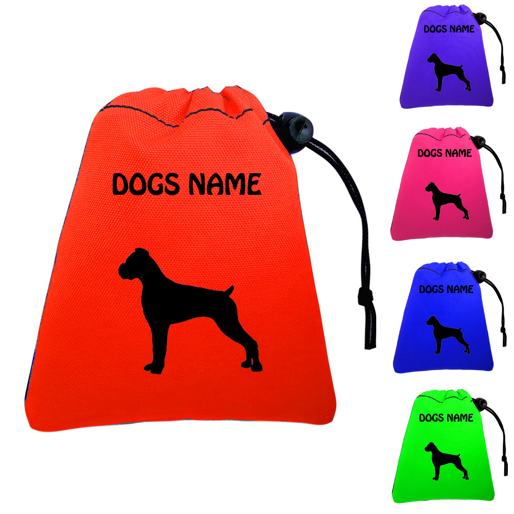 Boxer Dog Personalised Training Treat Bags - Clips To Waistband