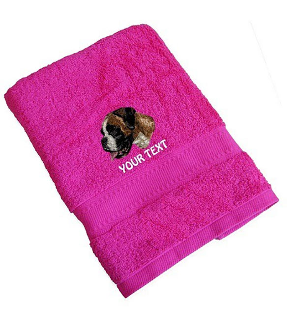 Boxer Personalised Dog Towels Standard Range - Face Cloth