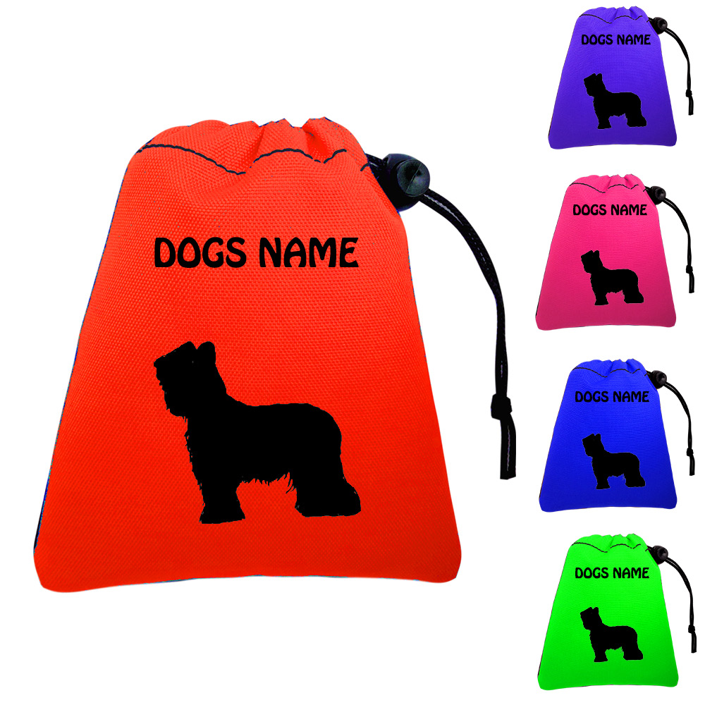 Briard Personalised Training Treat Bags - Clips To Waistband