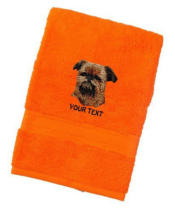 Brussels Griffon Personalised Dog Towels Luxury Range