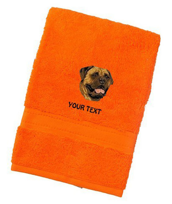 Bullmastiff Personalised Dog Towels Luxury Range