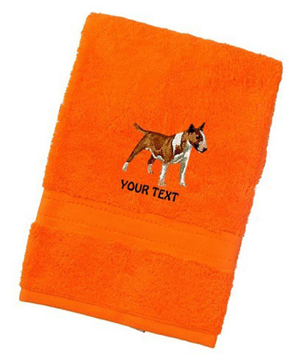 Bull Terrier Personalised Dog Towels Luxury Range - Face Cloth