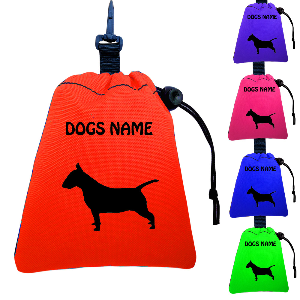 Bull Terrier Personalised Training Treat Bags - Clips To Dog Lead