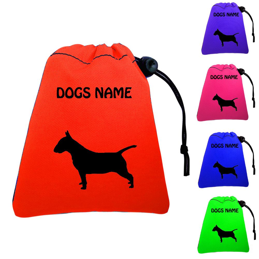 Bull Terrier Personalised Dog Training Treat Bags - Pocket Version