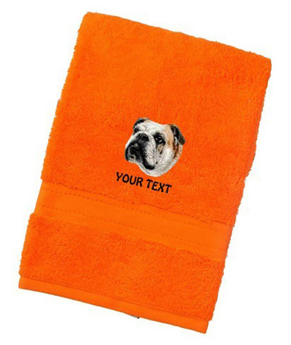 Bulldog Personalised Dog Towels Luxury Range - Face Cloth