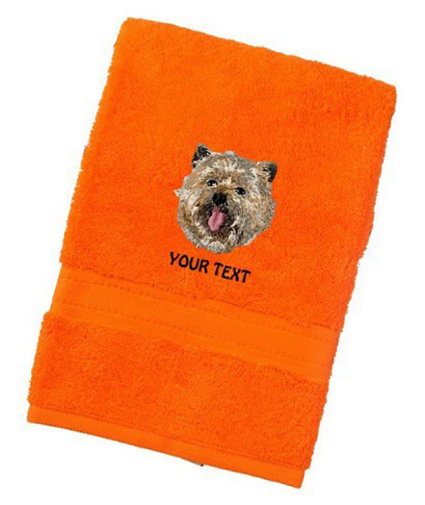 Cairn Terrier Personalised Dog Towels Luxury Range - Bath Towel