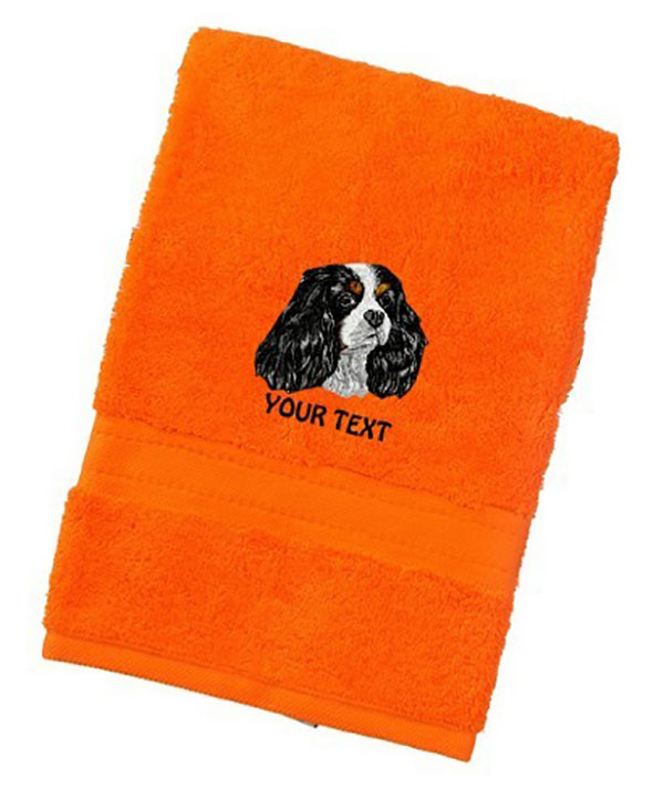 Cavalier King Charles Spaniel Personalised Dog Towels Luxury Range